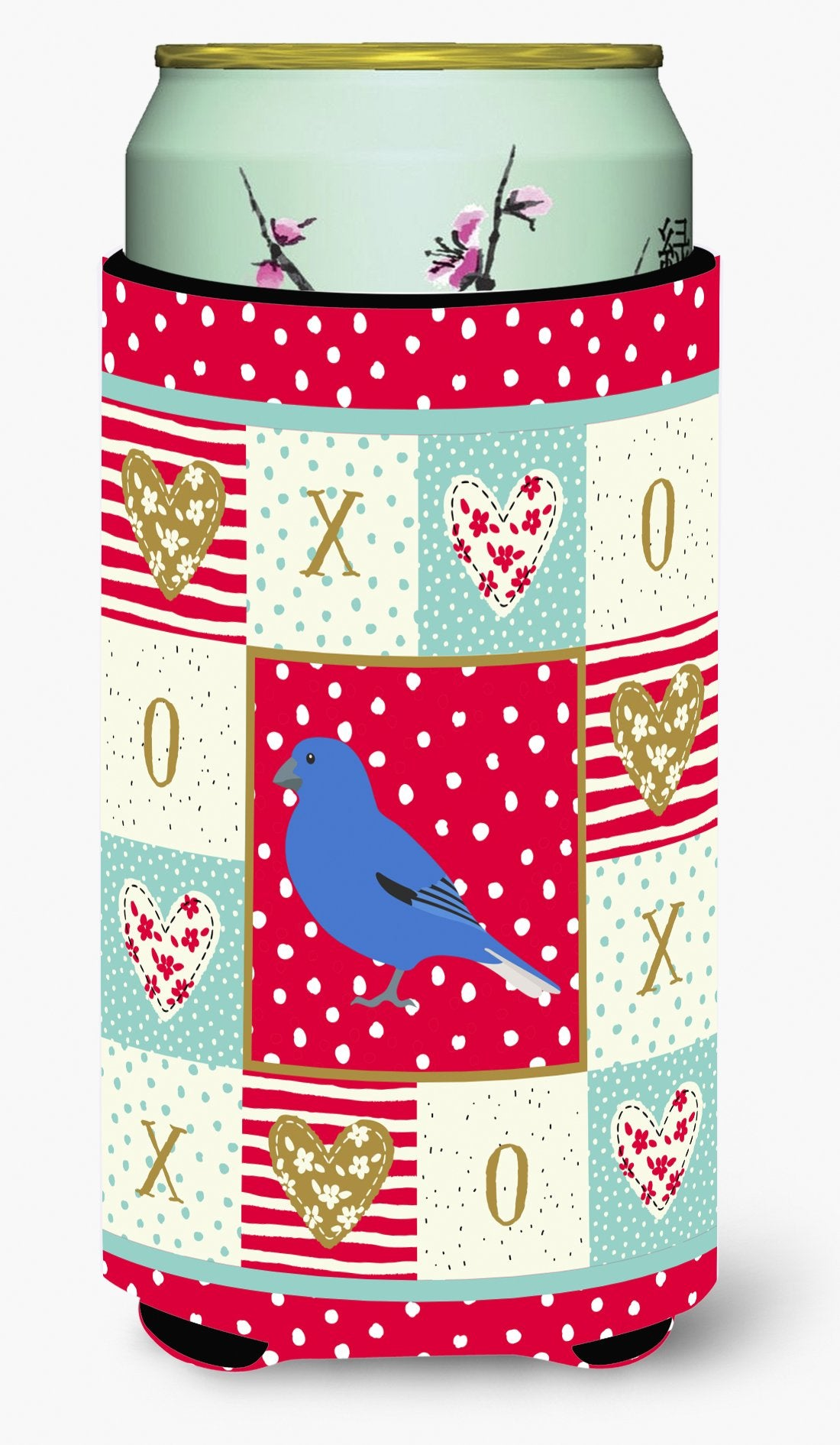 Bunting Love Tall Boy Beverage Insulator Hugger CK5510TBC by Caroline's Treasures