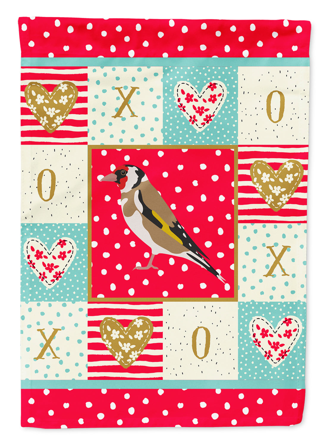 Buy this Gold Finch Love Flag Canvas House Size CK5512CHF