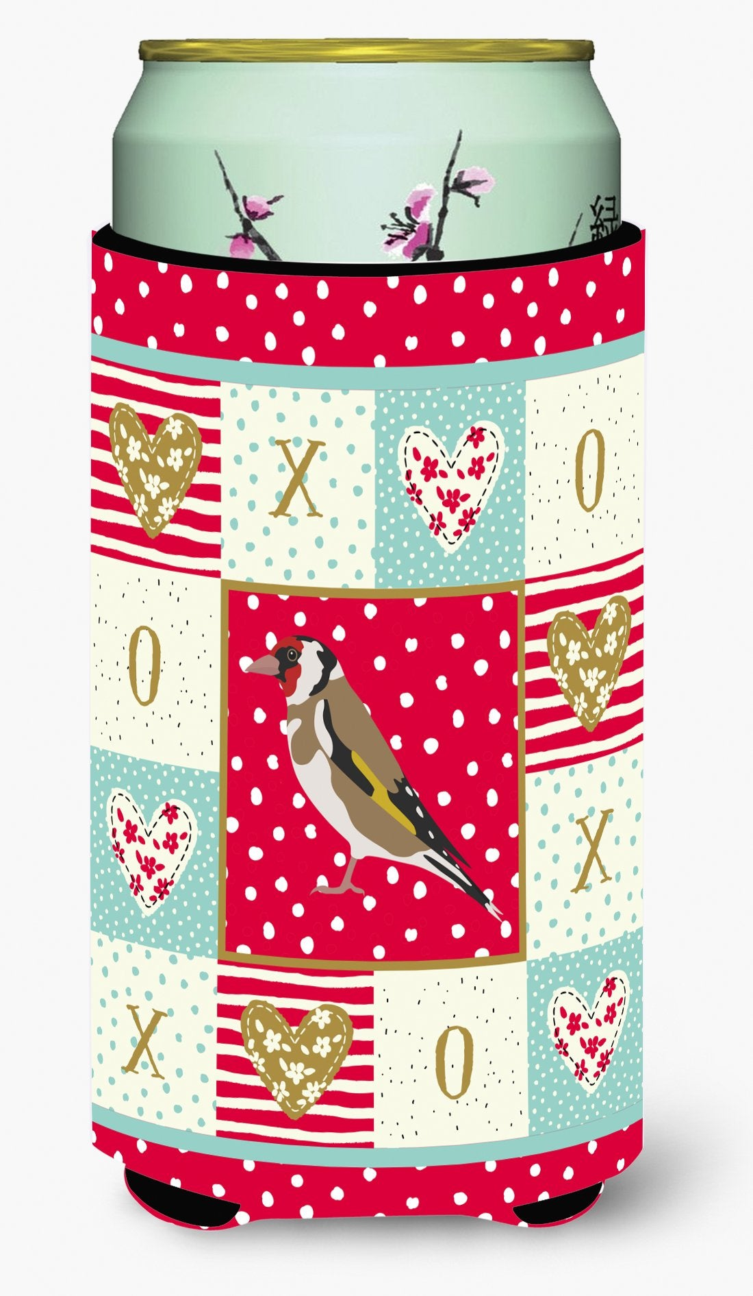 Buy this Gold Finch Love Tall Boy Beverage Insulator Hugger CK5512TBC