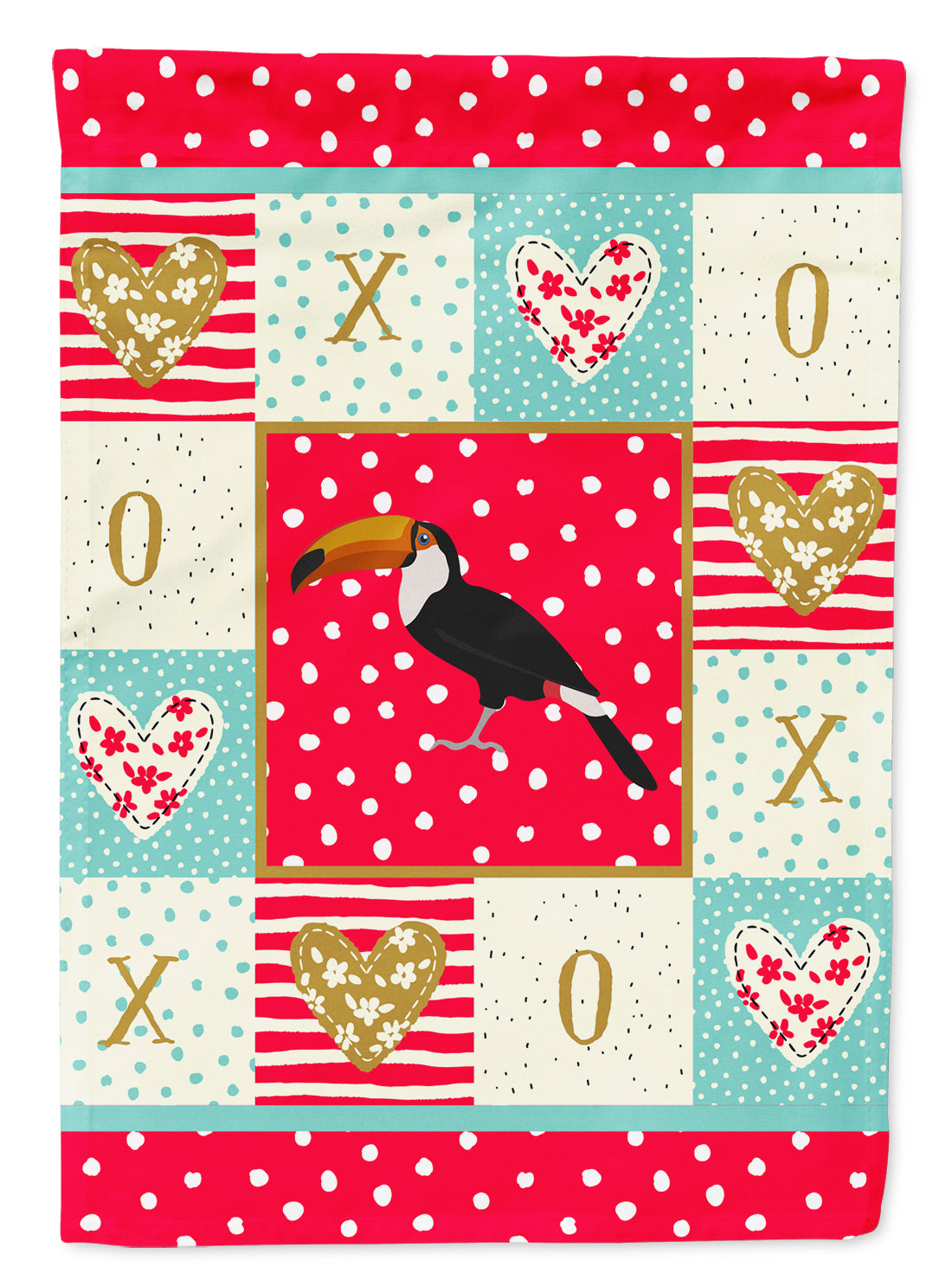 Toucan Love Flag Canvas House Size CK5517CHF by Caroline's Treasures