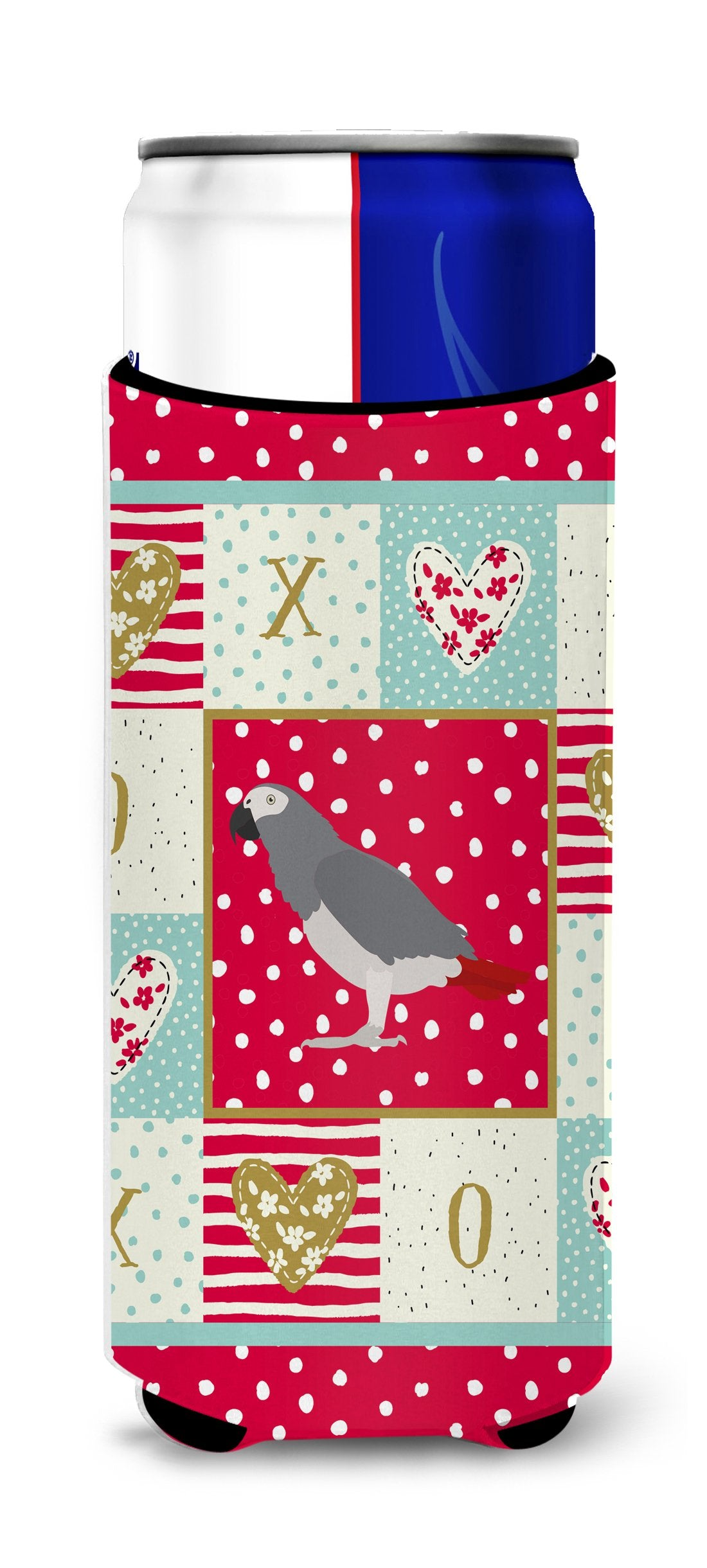 African Grey Parrot Love Michelob Ultra Hugger for slim cans CK5518MUK by Caroline's Treasures