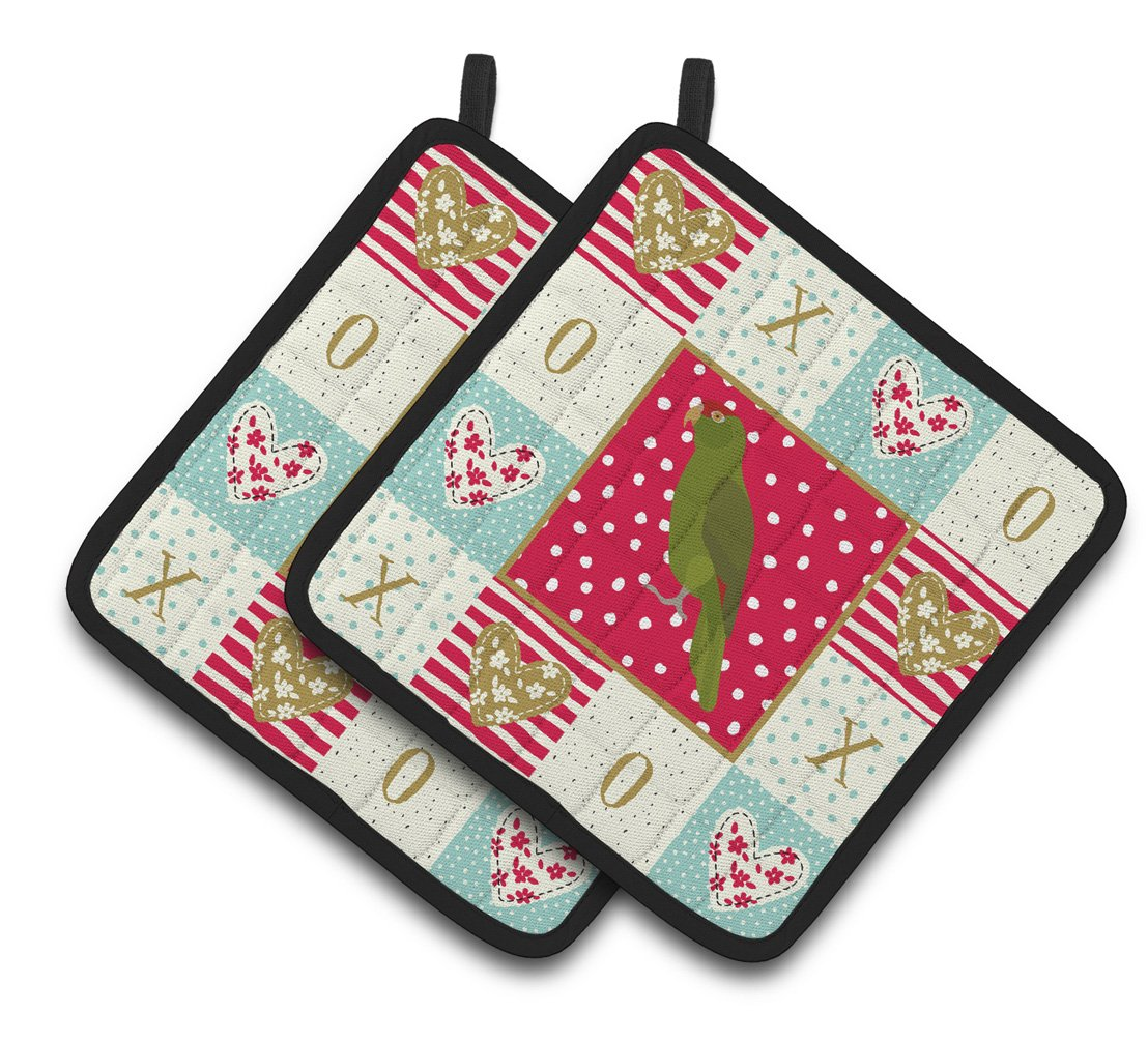 Amazon Parrot Love Pair of Pot Holders CK5519PTHD by Caroline's Treasures
