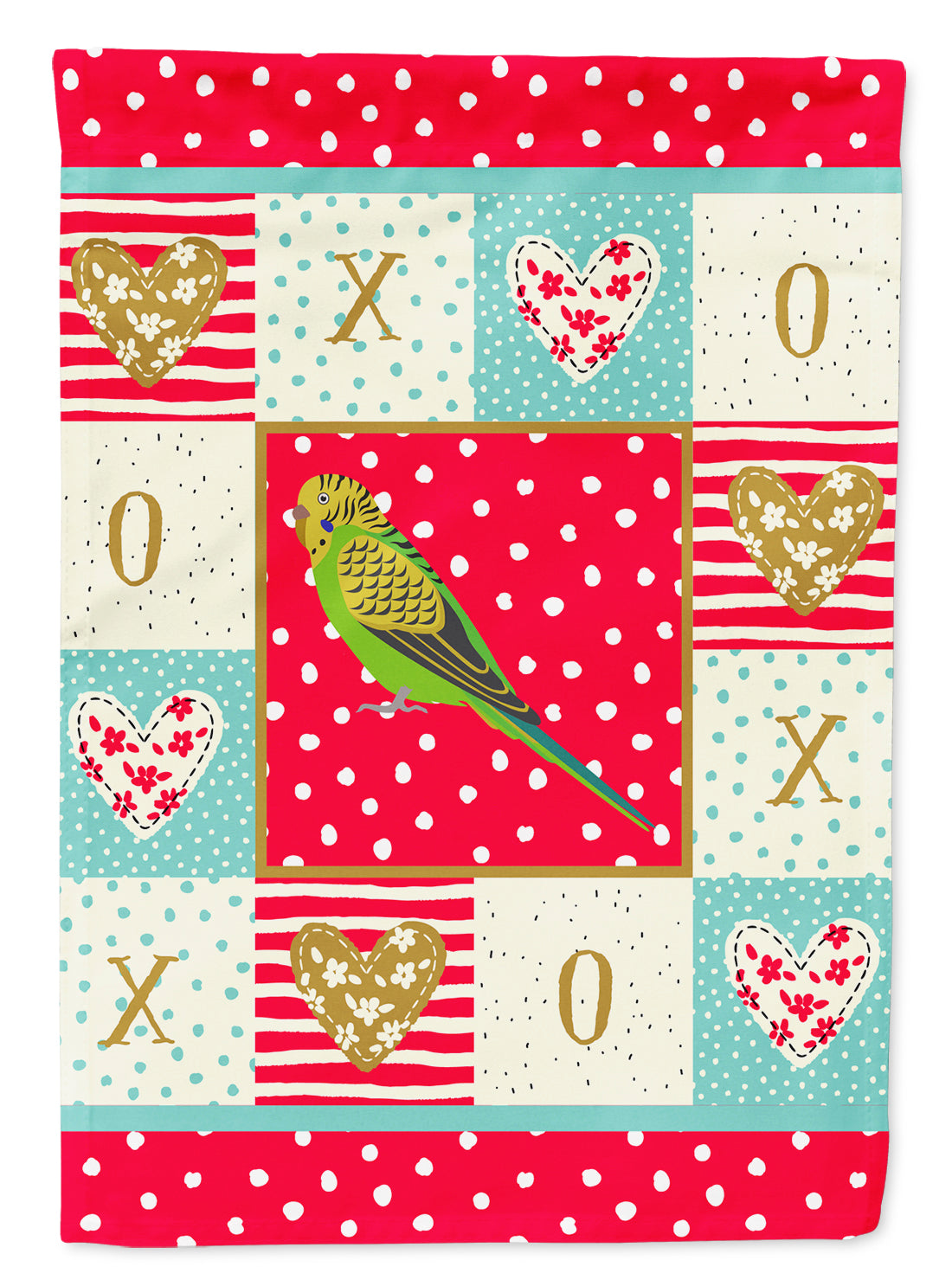 Budgerigar Love Flag Garden Size CK5520GF by Caroline's Treasures