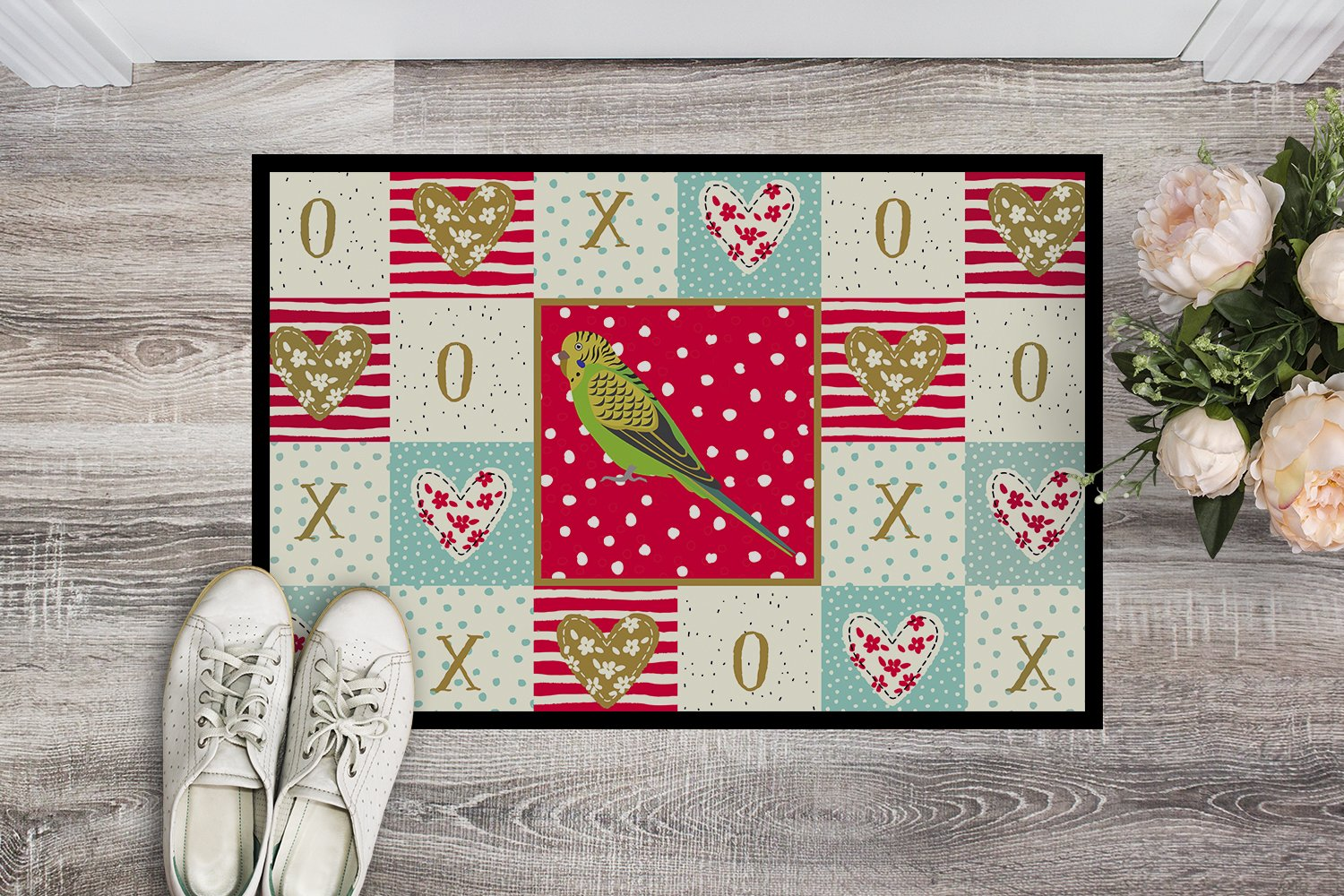 Buy this Budgerigar Love Indoor or Outdoor Mat 24x36 CK5520JMAT