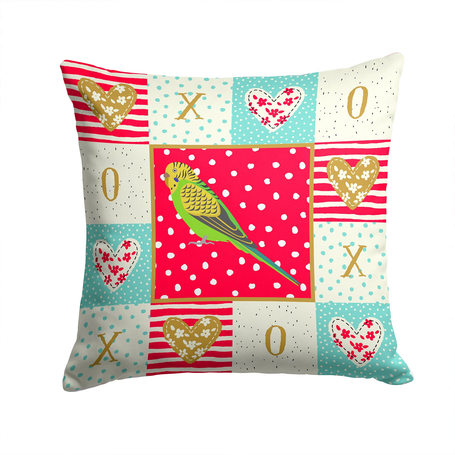 Buy this Budgerigar Love Fabric Decorative Pillow CK5520PW1414