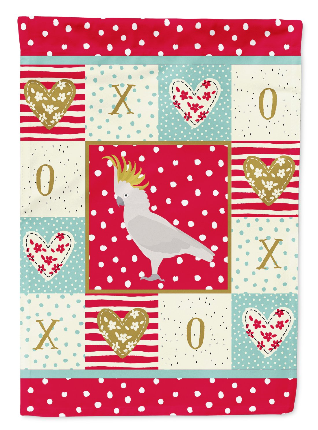 Buy this Cockatoo Love Flag Garden Size CK5522GF