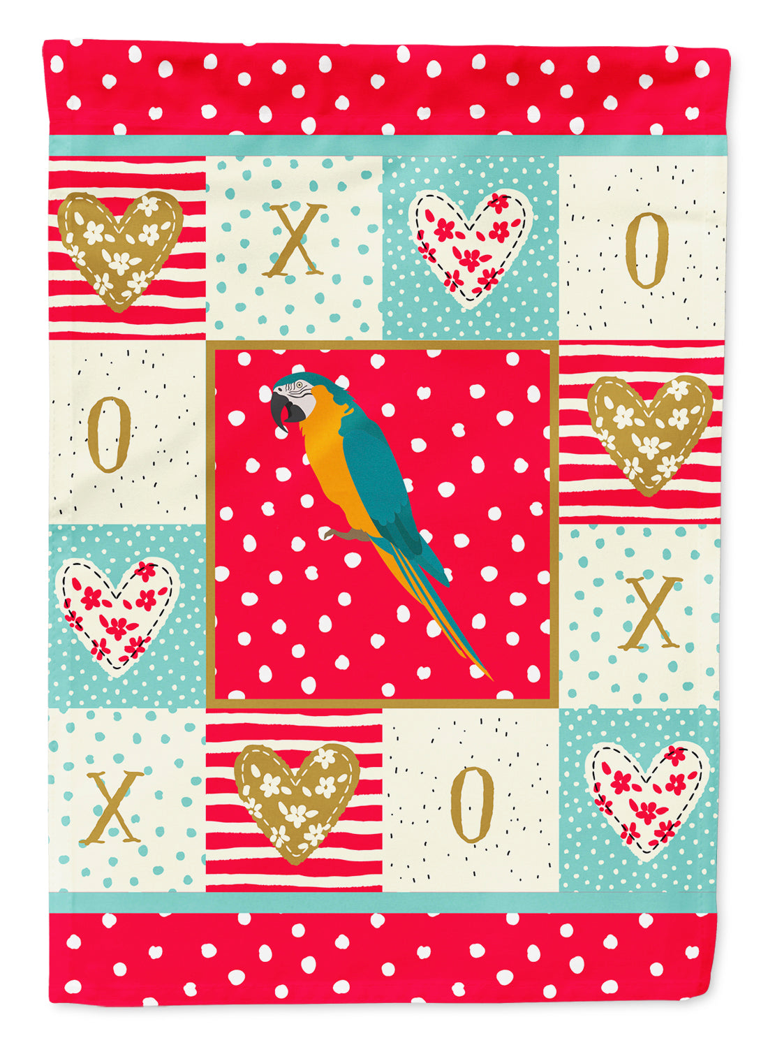 Macaw Love Flag Canvas House Size CK5523CHF by Caroline's Treasures