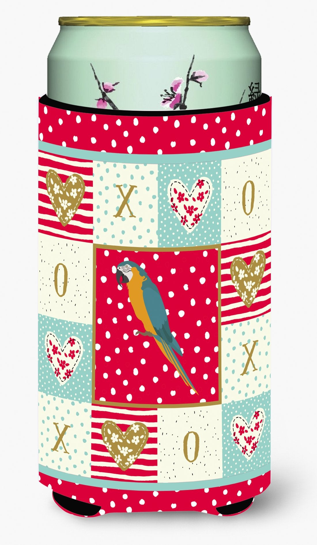 Macaw Love Tall Boy Beverage Insulator Hugger CK5523TBC by Caroline's Treasures