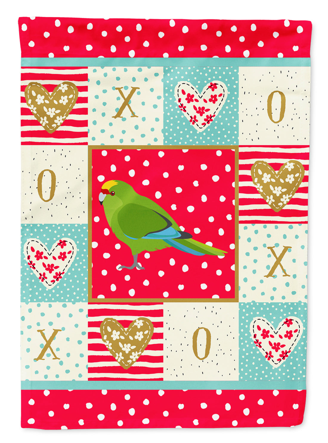 New Zealand Parakeet Love Flag Canvas House Size CK5524CHF by Caroline's Treasures