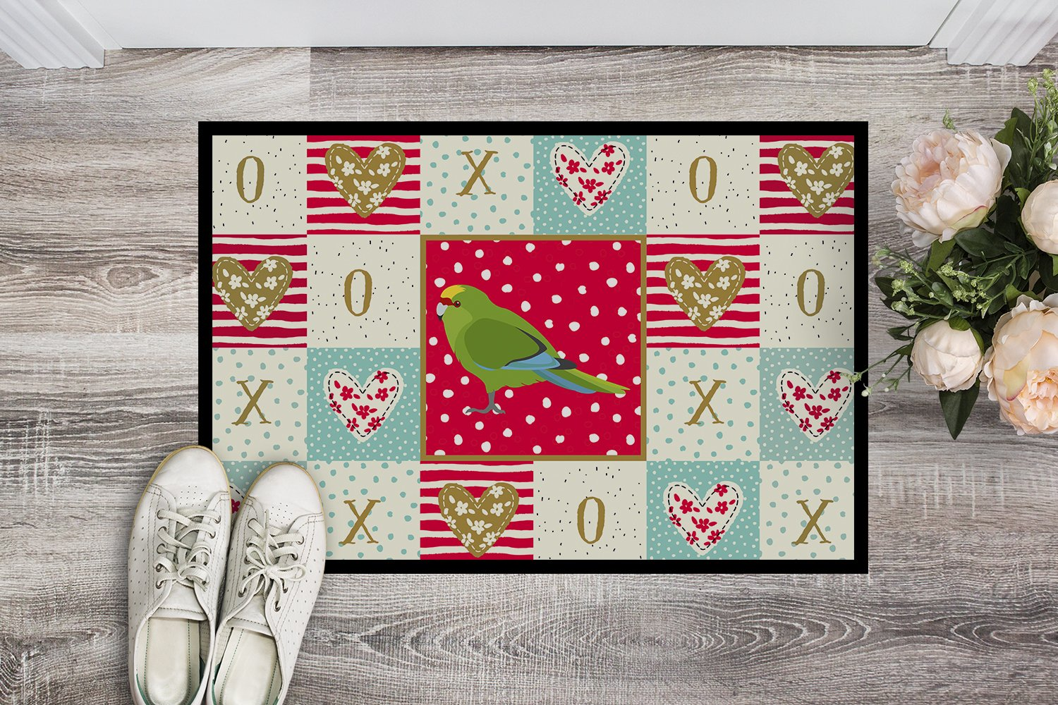 Buy this New Zealand Parakeet Love Indoor or Outdoor Mat 24x36 CK5524JMAT