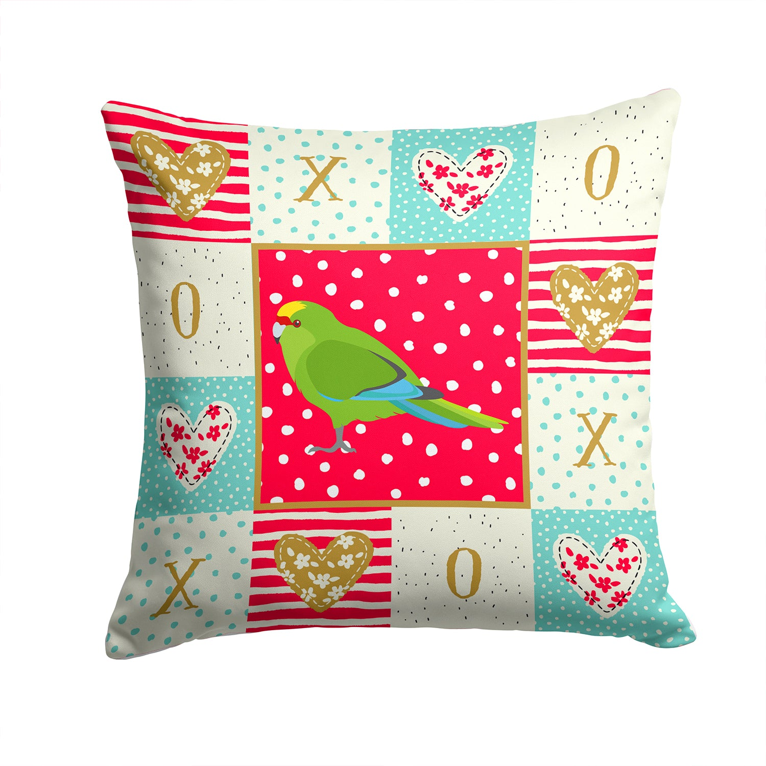 Buy this New Zealand Parakeet Love Fabric Decorative Pillow CK5524PW1414