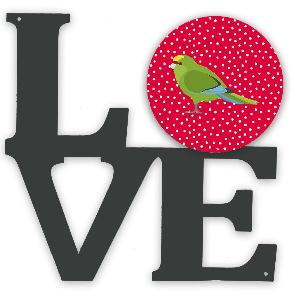 New Zealand Parakeet Love Metal Wall Artwork LOVE CK5524WALV by Caroline's Treasures