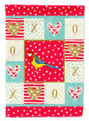 Rosella Love Flag Canvas House Size CK5526CHF by Caroline's Treasures