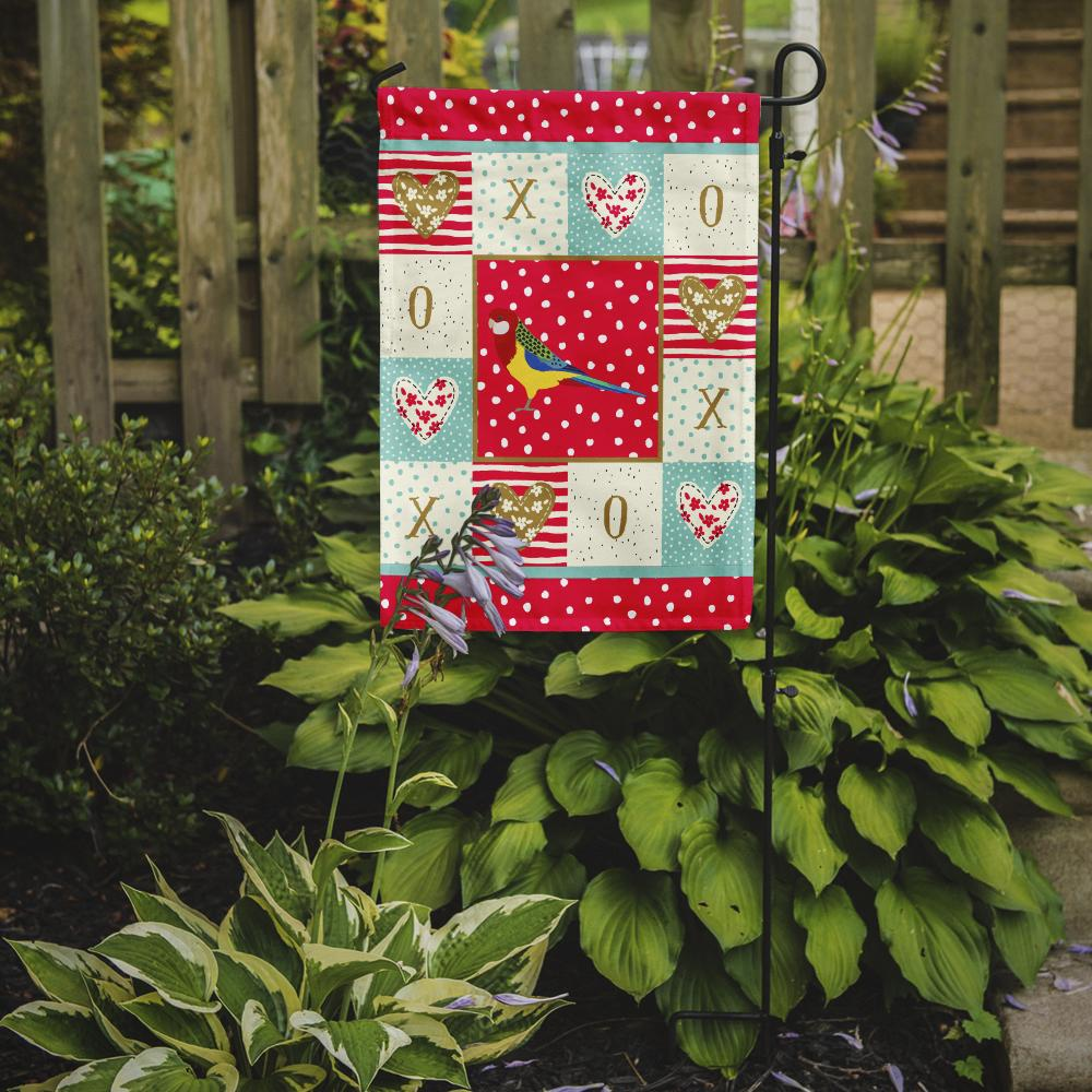 Rosella Love Flag Garden Size CK5526GF by Caroline's Treasures