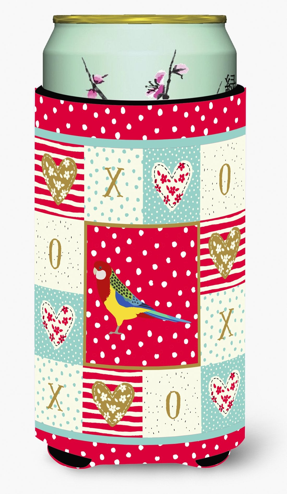 Rosella Love Tall Boy Beverage Insulator Hugger CK5526TBC by Caroline's Treasures
