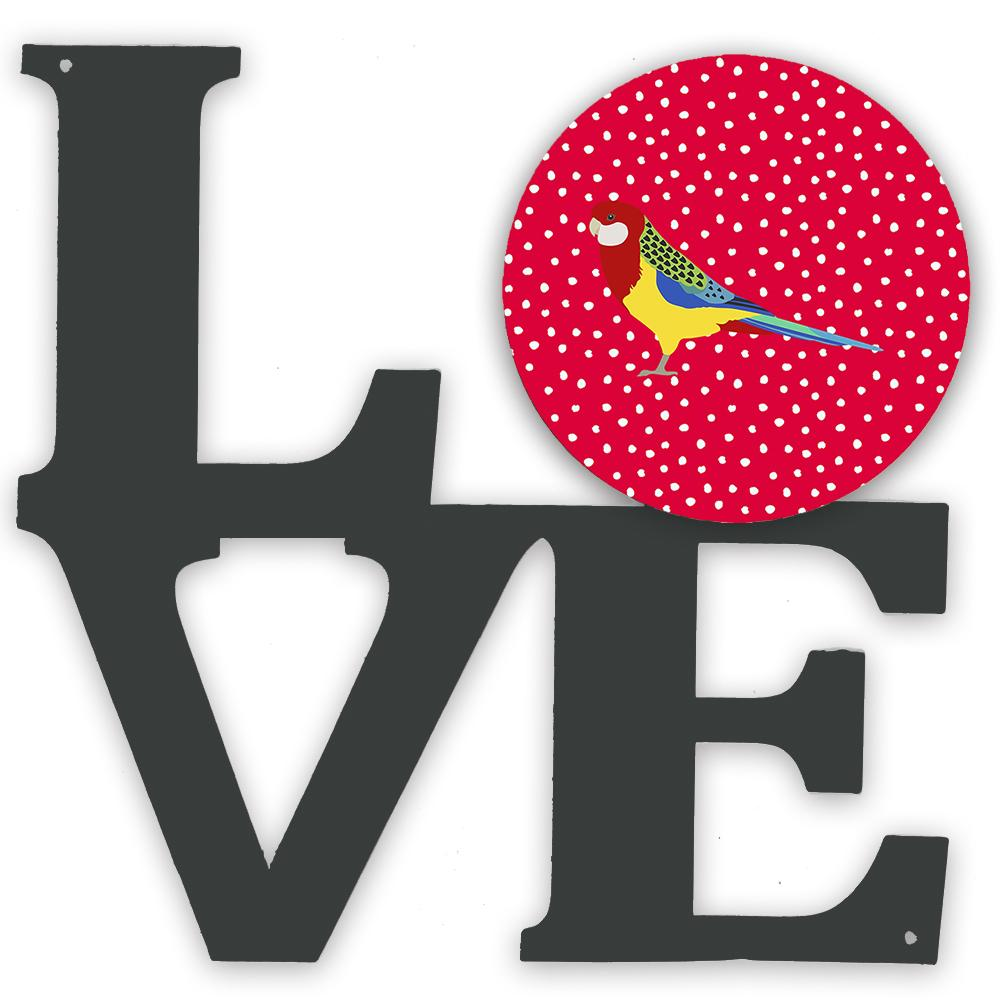 Rosella Love Metal Wall Artwork LOVE CK5526WALV by Caroline's Treasures
