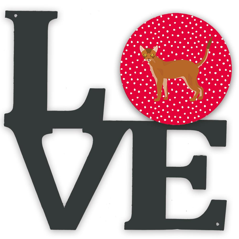 Buy this Red Abyssinian Cat Love Metal Wall Artwork LOVE CK5539WALV