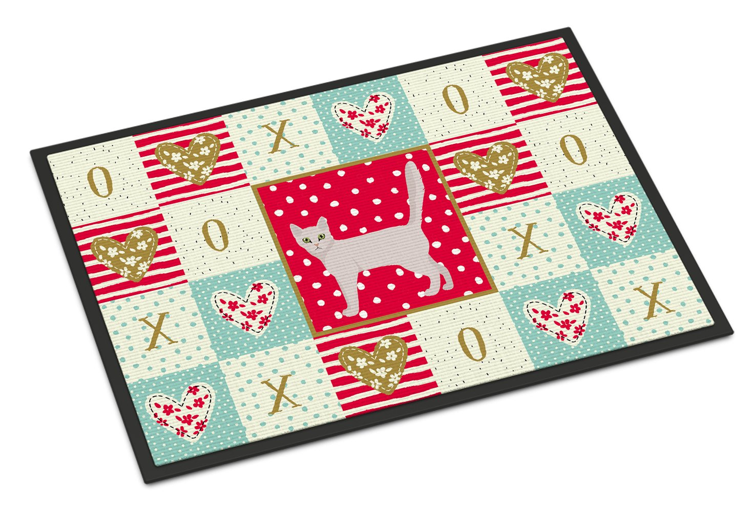 Burmilla Cat Love Indoor or Outdoor Mat 24x36 CK5571JMAT by Caroline's Treasures