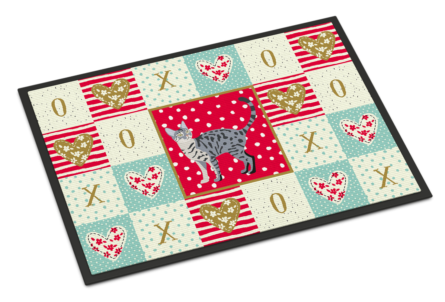 Buy this California Spangled #1 Cat Love Indoor or Outdoor Mat 18x27 CK5572MAT