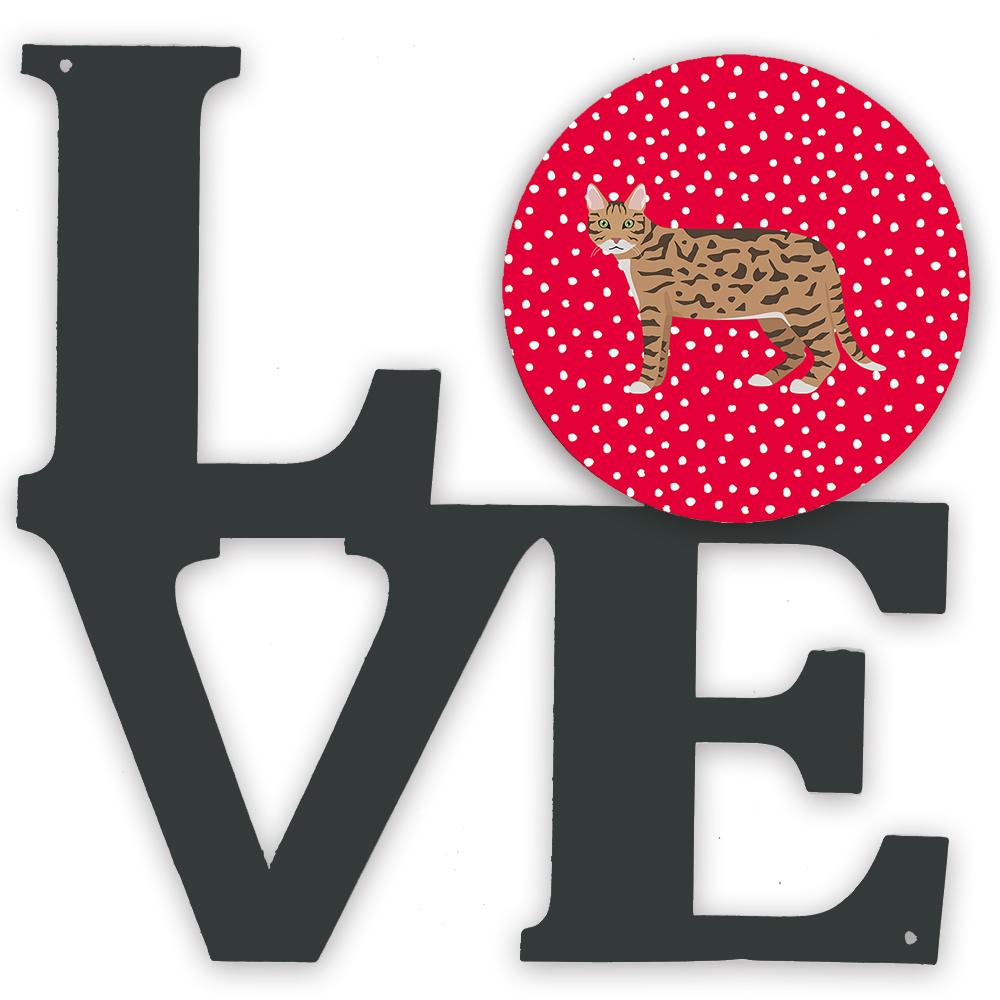 California Spangled #2 Cat Love Metal Wall Artwork LOVE CK5573WALV by Caroline's Treasures