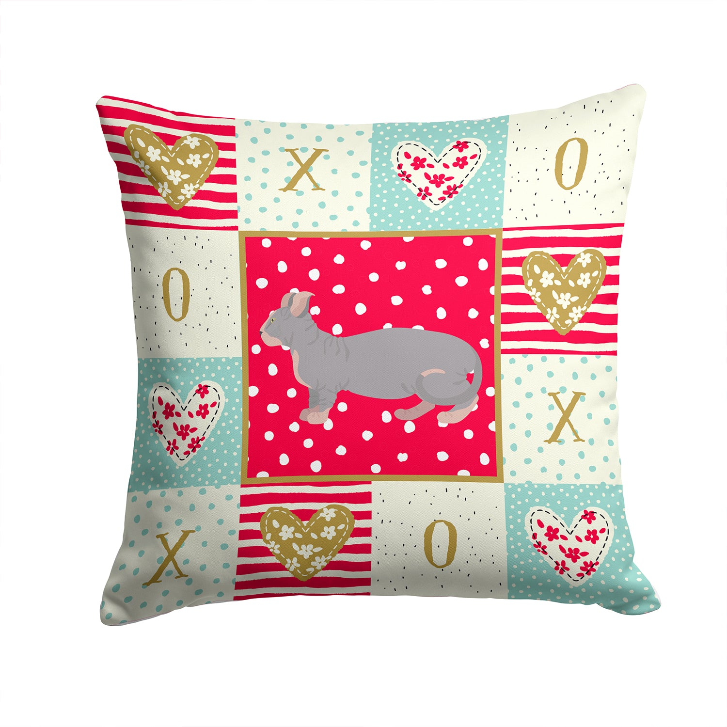 Buy this Dwelf #1 Cat Love Fabric Decorative Pillow CK5604PW1414
