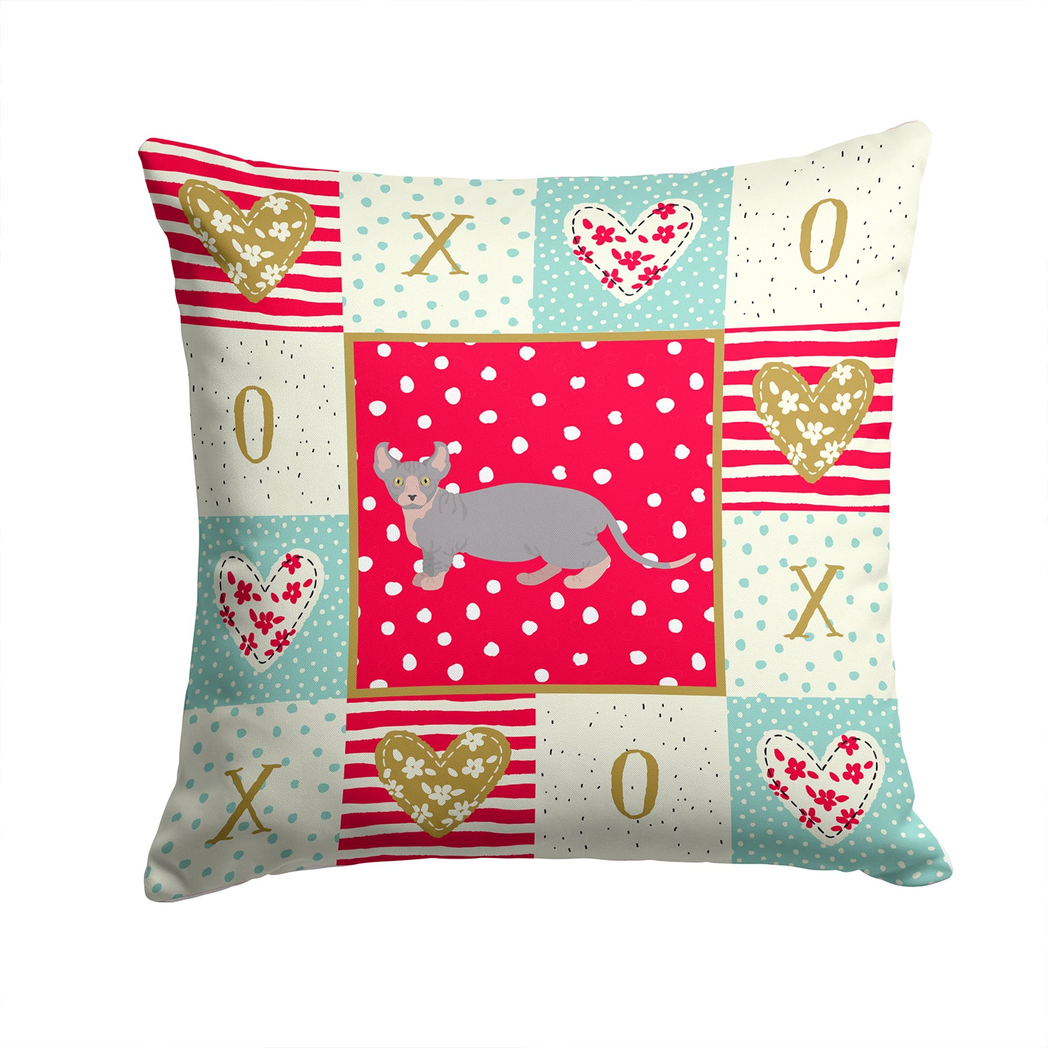 Buy this Dwelf #4 Cat Love Fabric Decorative Pillow CK5607PW1414