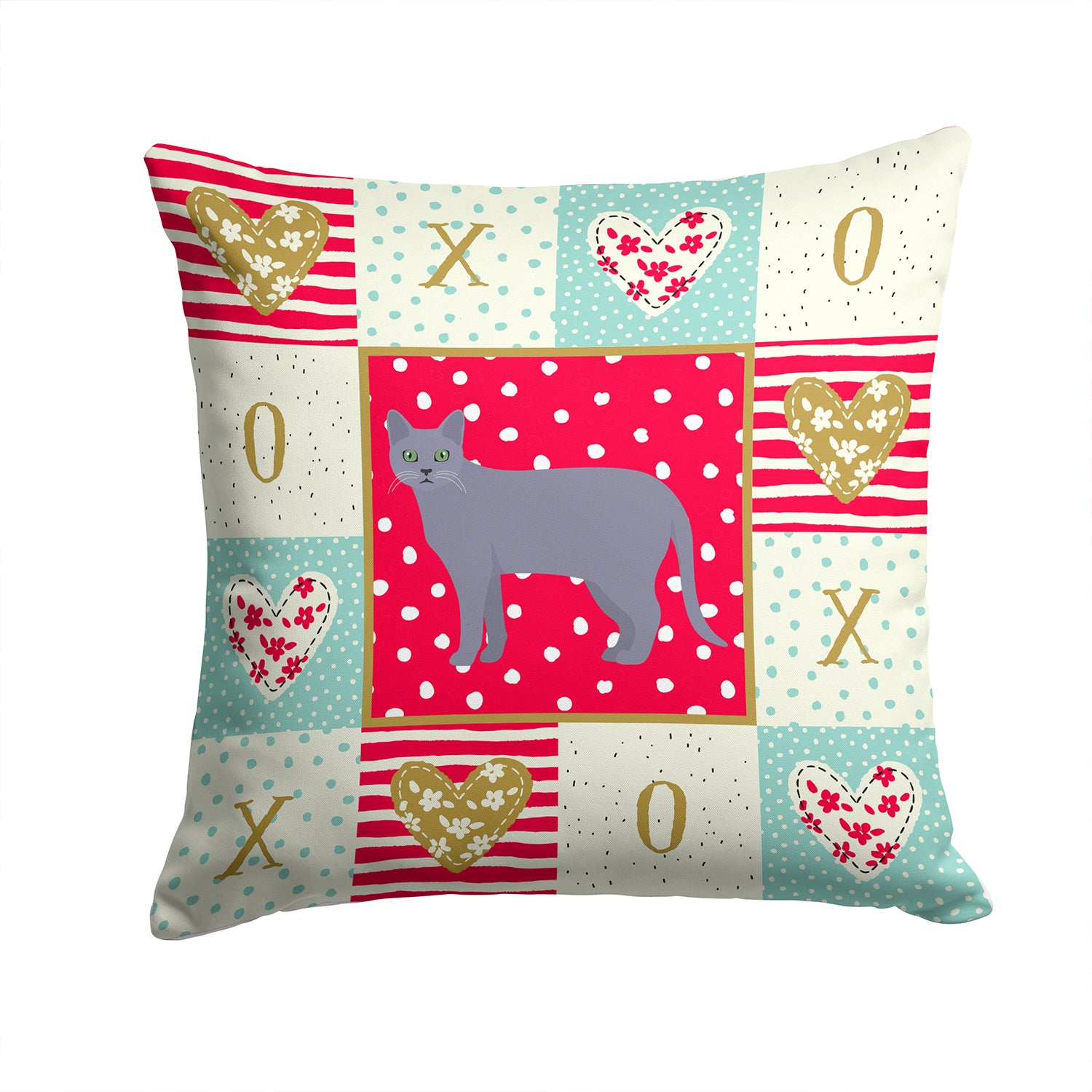 Buy this Korat #1 Cat Love Fabric Decorative Pillow CK5630PW1414