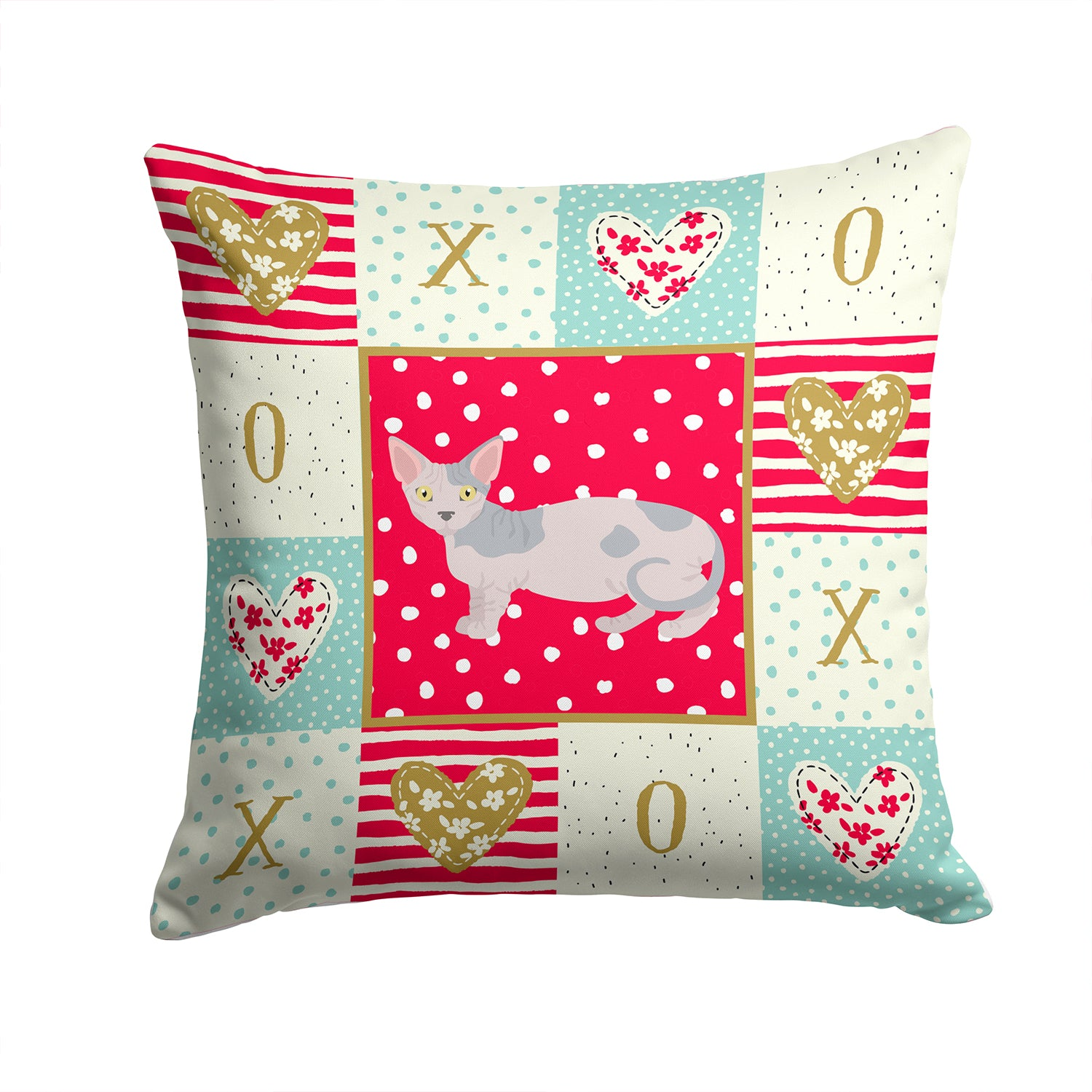 Buy this Minskin Cat Love Fabric Decorative Pillow CK5649PW1414