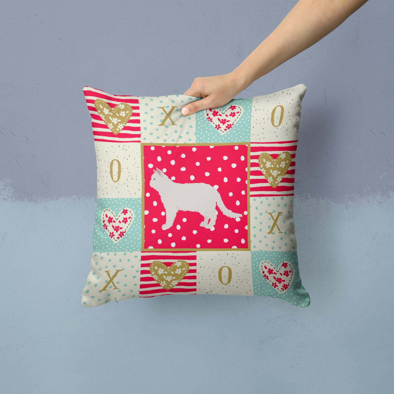 Buy this Poodle Cat #2 Cat Love Fabric Decorative Pillow CK5682PW1414