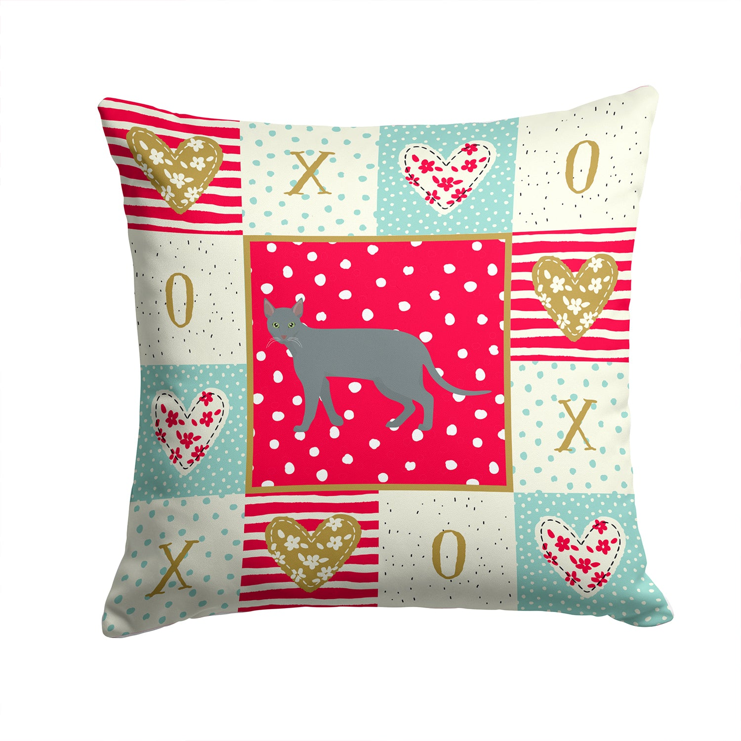 Buy this Raas Cat Love Fabric Decorative Pillow CK5683PW1414