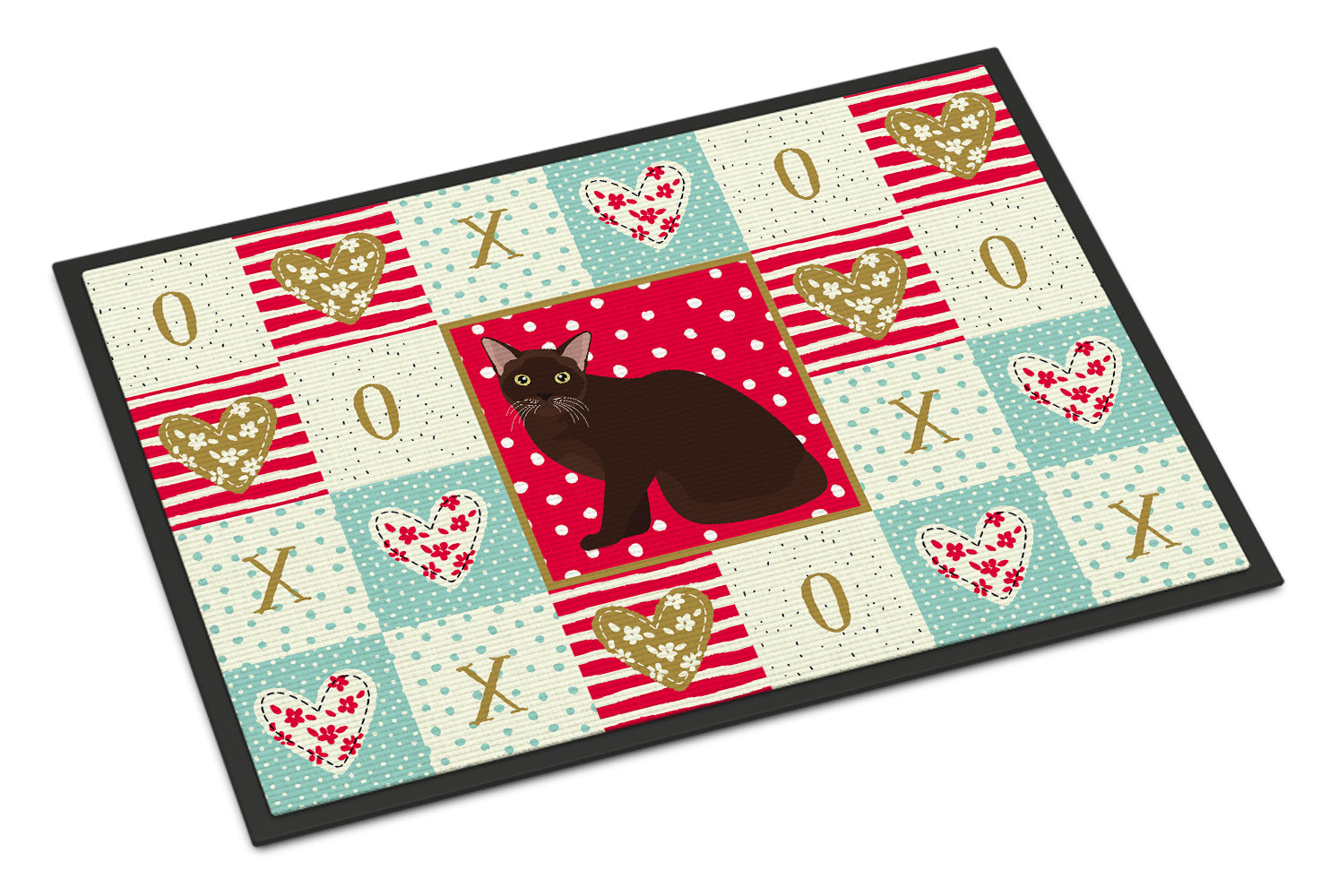 Buy this Burmese Cat Love Indoor or Outdoor Mat 18x27 CK5747MAT