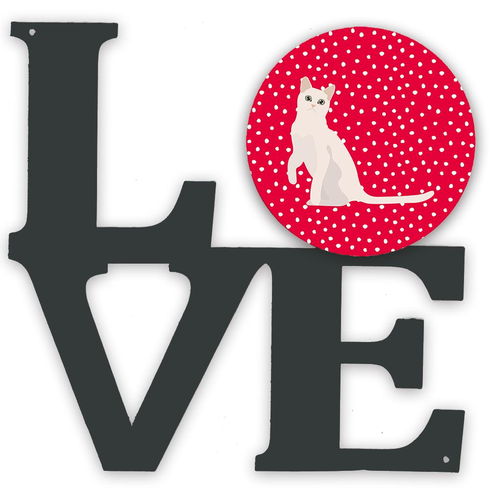 Burmilla #1 Cat Love Metal Wall Artwork LOVE CK5749WALV by Caroline's Treasures