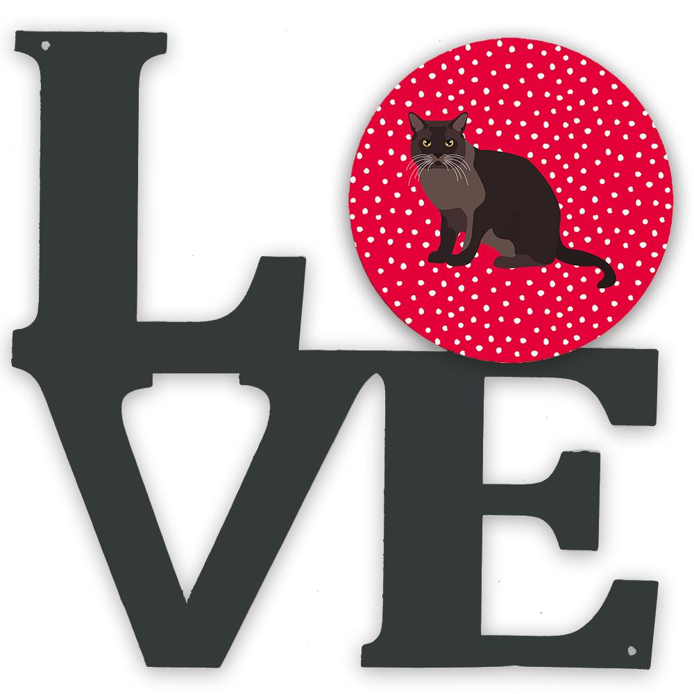 European Burmese Cat Love Metal Wall Artwork LOVE CK5761WALV by Caroline's Treasures