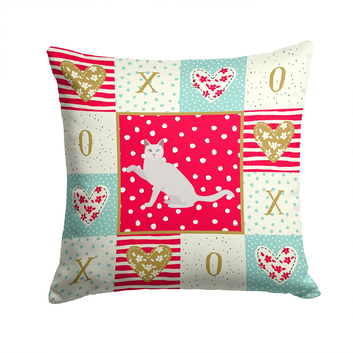 Buy this Khao Manee Cat Love Fabric Decorative Pillow CK5766PW1414
