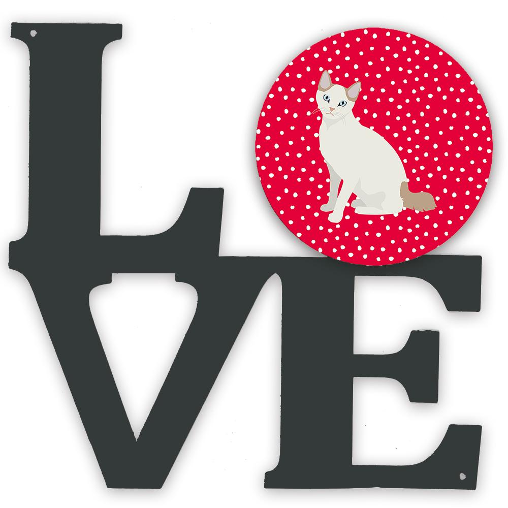 Korean Bobtail Cat Love Metal Wall Artwork LOVE CK5768WALV by Caroline's Treasures