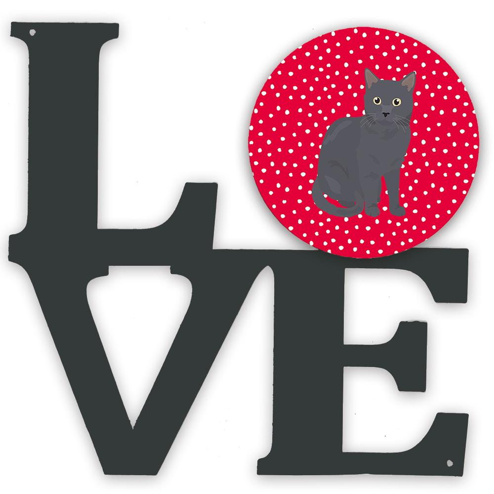 Nebelung Cat Love Metal Wall Artwork LOVE CK5771WALV by Caroline's Treasures