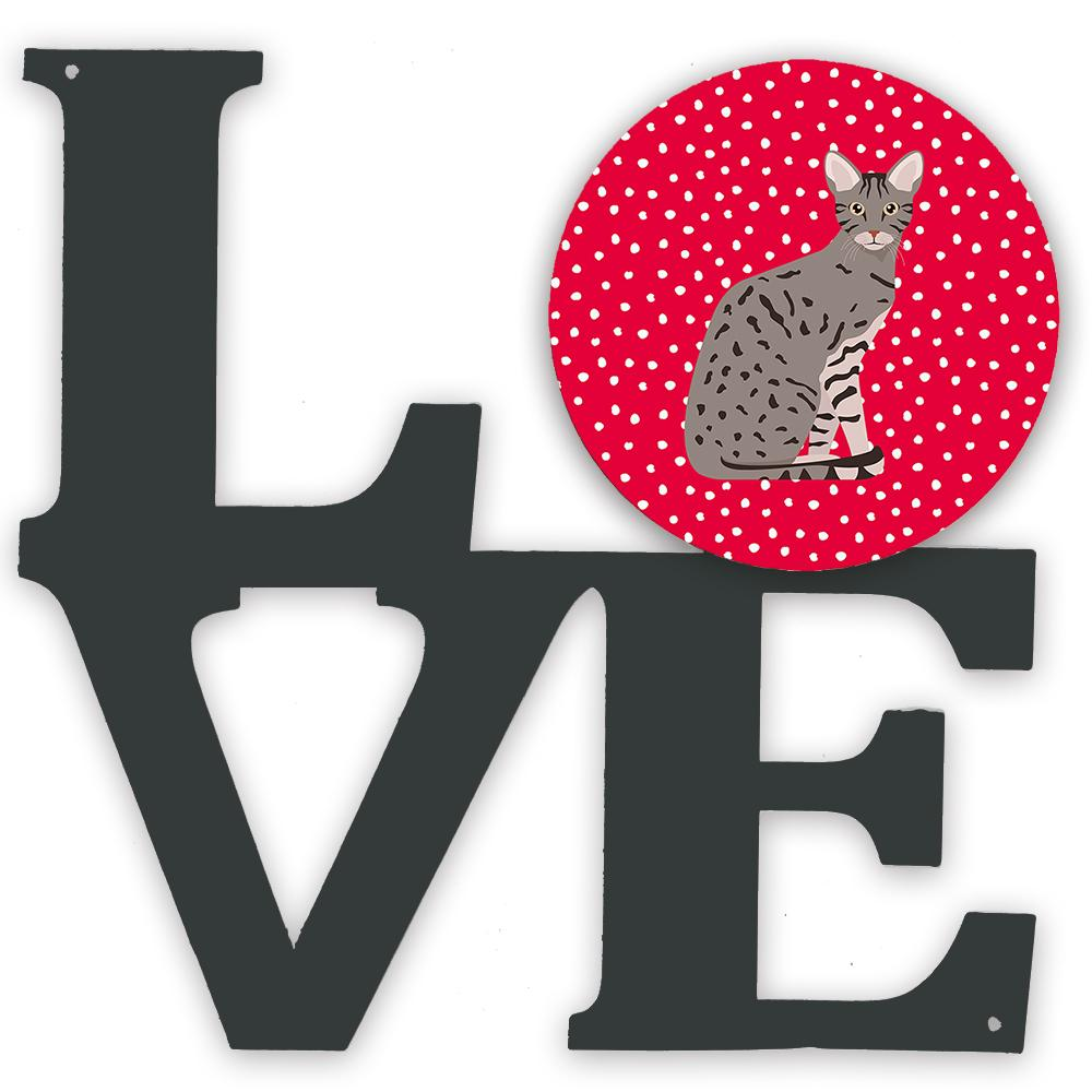 Ocicat Cat Love Metal Wall Artwork LOVE CK5773WALV by Caroline's Treasures