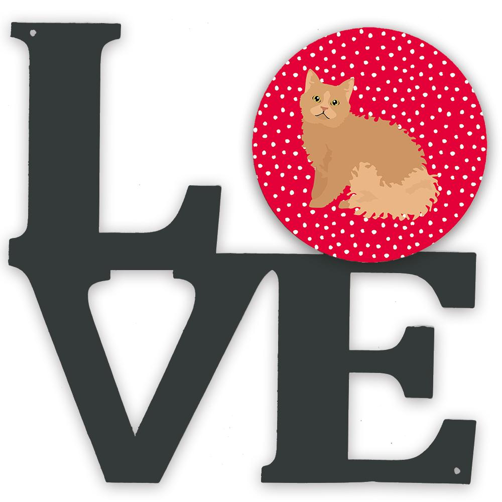 Selkirk Rex Cat Love Metal Wall Artwork LOVE CK5784WALV by Caroline's Treasures