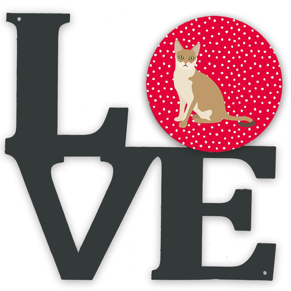 Singapura Cat Love Metal Wall Artwork LOVE CK5789WALV by Caroline's Treasures