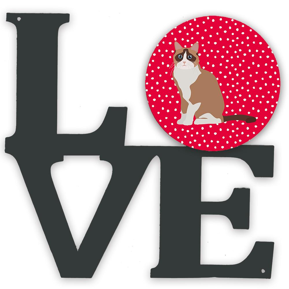 Snowshoe #2 Cat Love Metal Wall Artwork LOVE CK5792WALV by Caroline's Treasures