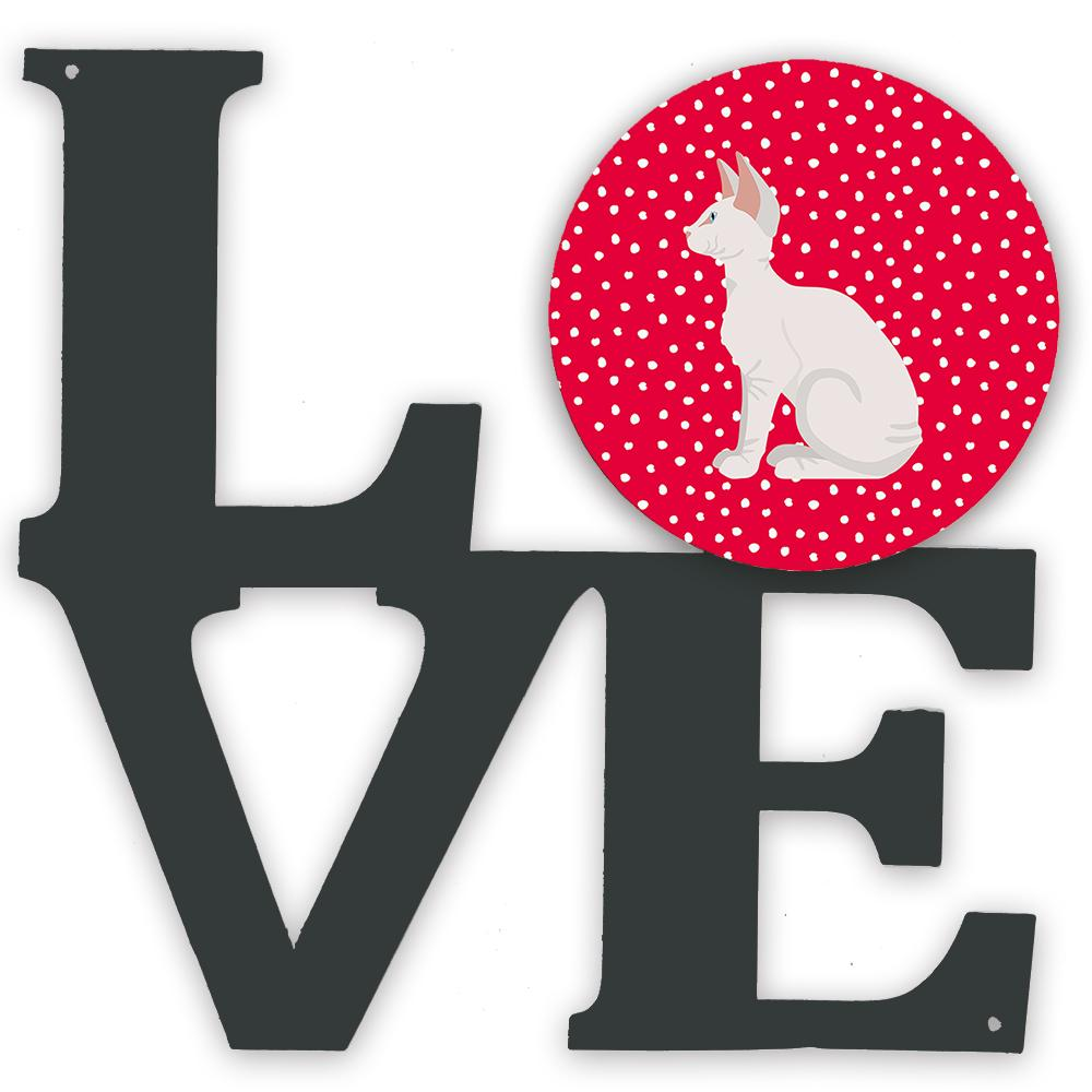 Sphynx #3 Cat Love Metal Wall Artwork LOVE CK5796WALV by Caroline's Treasures