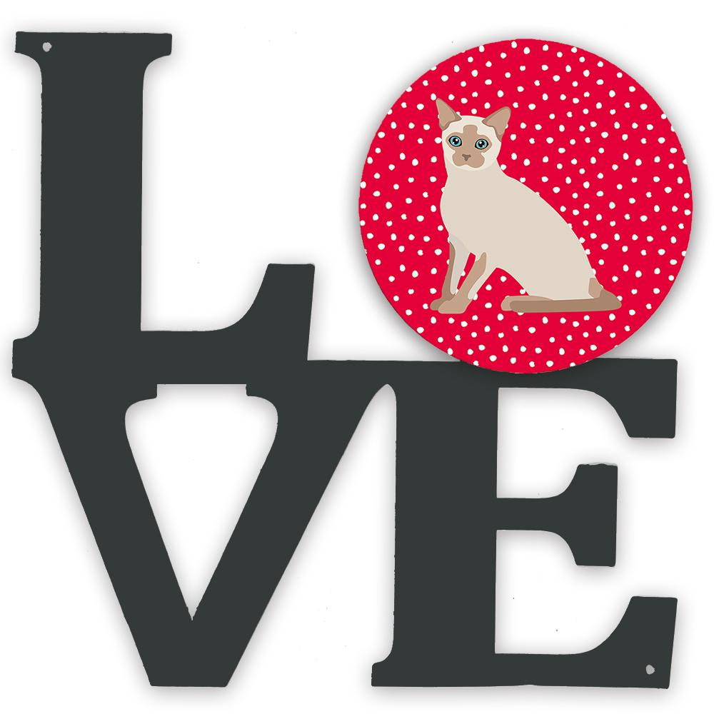 Tonkinese Cat Love Metal Wall Artwork LOVE CK5799WALV by Caroline's Treasures