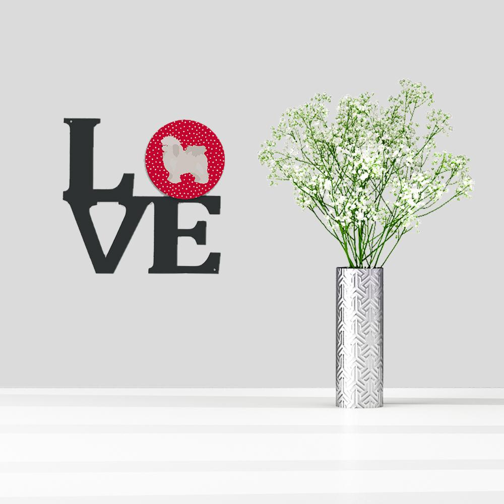 Bolognese Love Metal Wall Artwork LOVE CK5815WALV by Caroline's Treasures