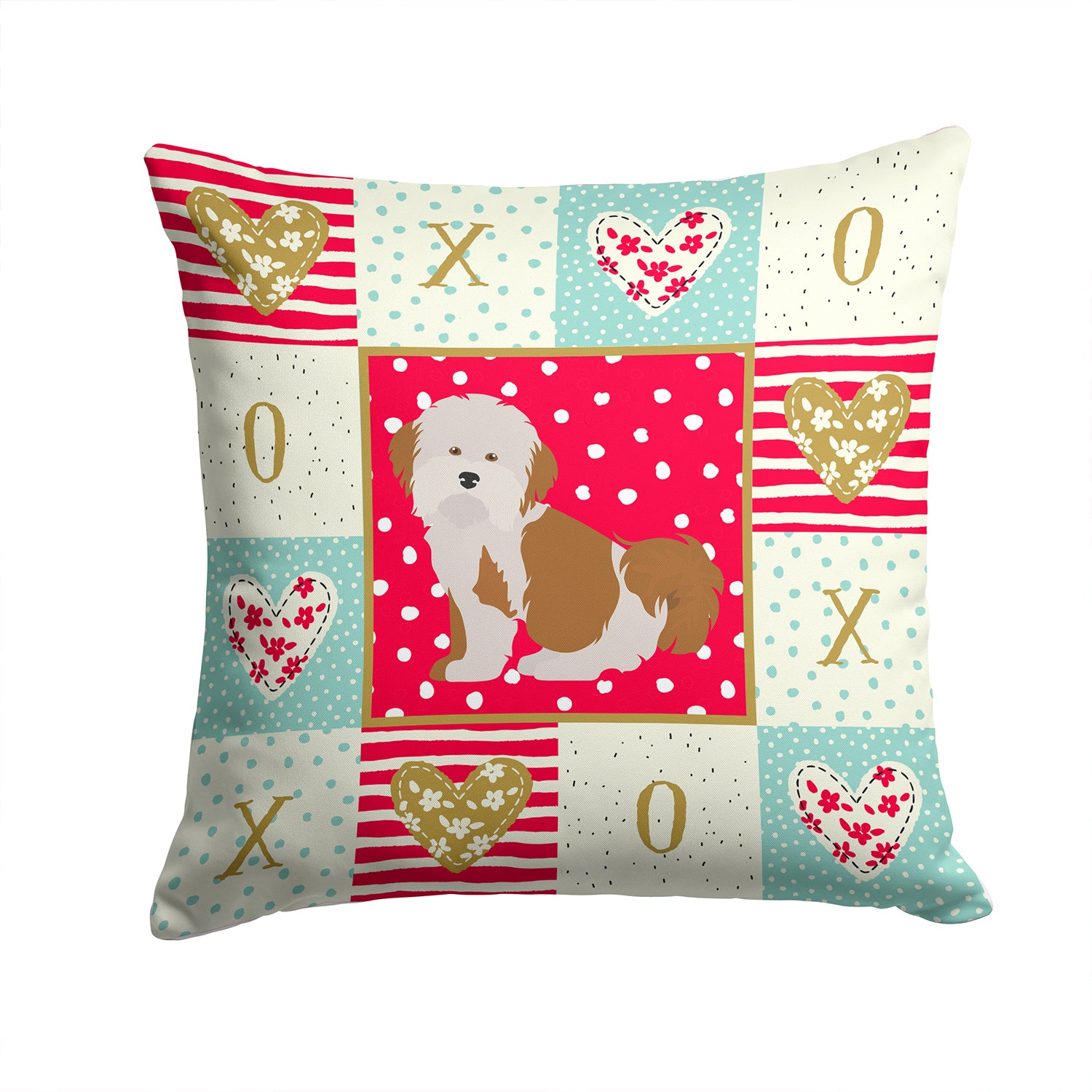 Buy this Havanese #2 Love Fabric Decorative Pillow CK5842PW1414