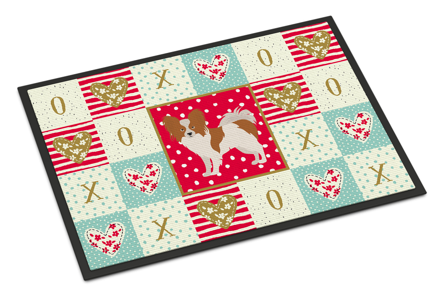 Papillon #1 Love Indoor or Outdoor Mat 18x27 CK5871MAT by Caroline's Treasures