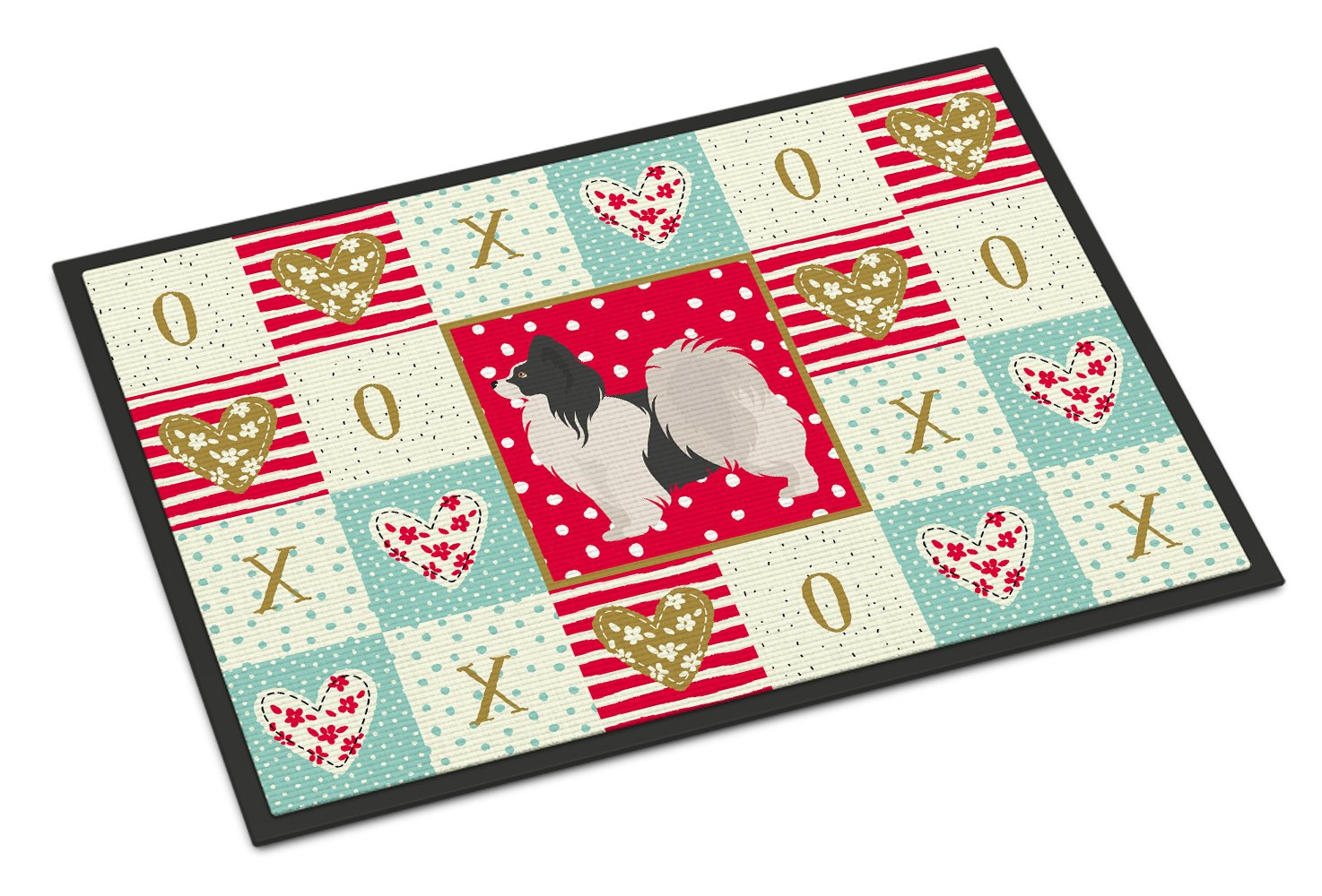 Papillon #2 Love Indoor or Outdoor Mat 24x36 CK5872JMAT by Caroline's Treasures