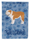 English Bulldog #1 Welcome Flag Garden Size CK5986GF by Caroline's Treasures
