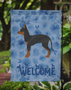 English Toy Terrier #1 Welcome Flag Garden Size CK5988GF by Caroline's Treasures