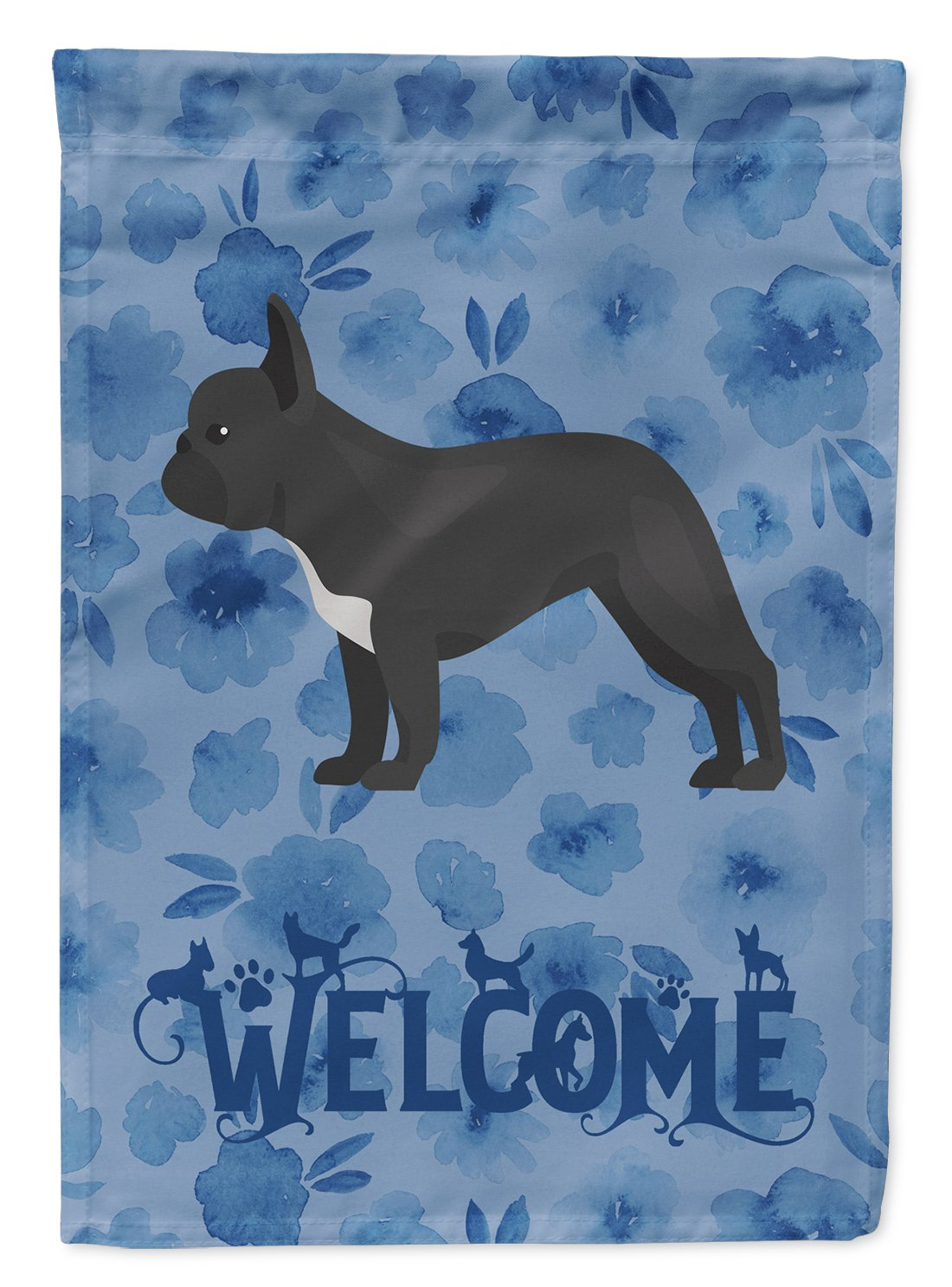 Buy this French Bulldog #1 Welcome Flag Garden Size CK5991GF