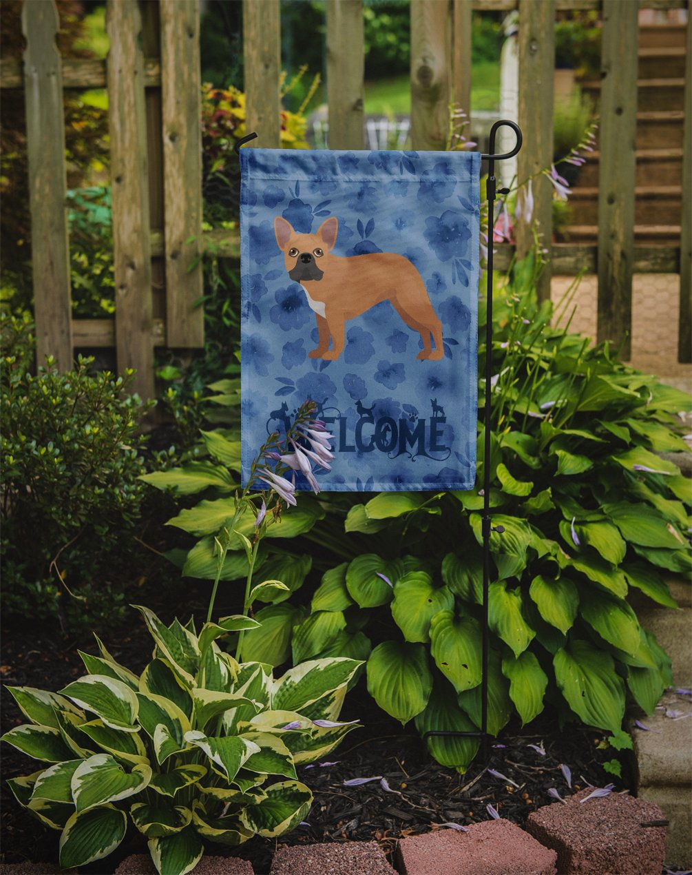 French Bulldog #2 Welcome Flag Garden Size CK5992GF by Caroline's Treasures